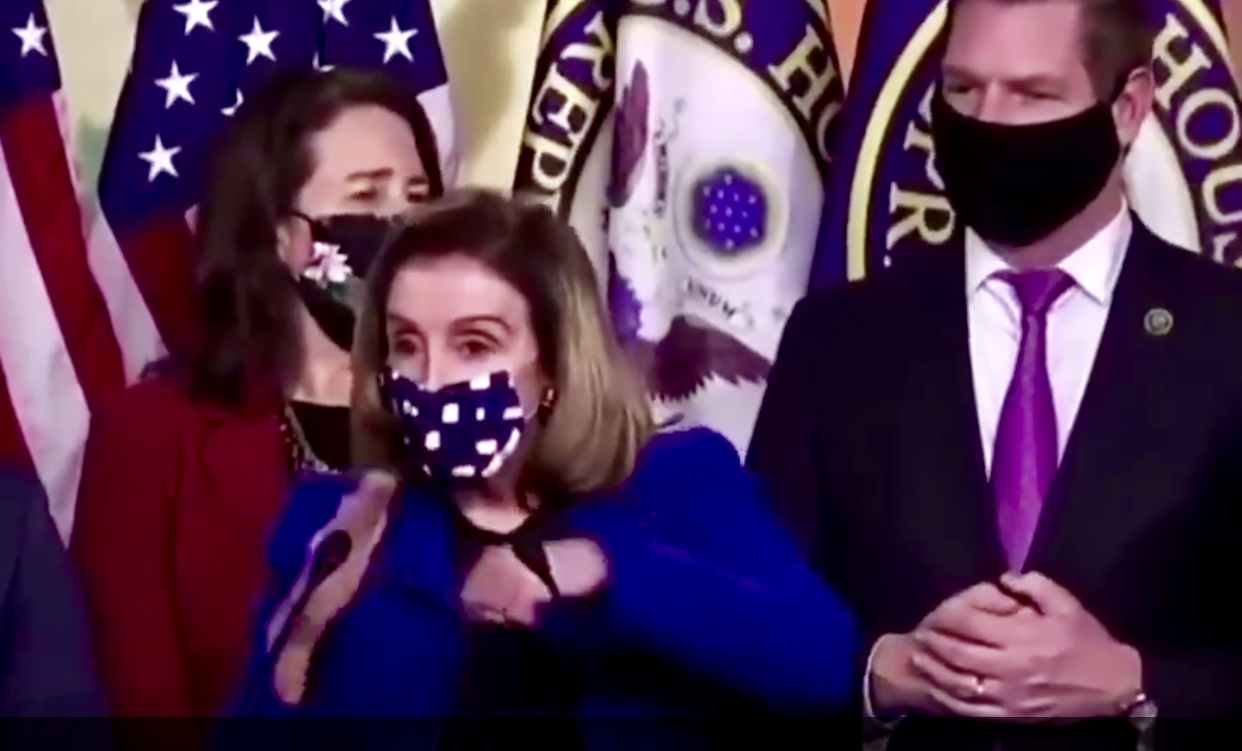 The Fake Speaker of the House Nancy Pelosi Crashes House Impeachment Managers Presser, Melts Down Over Acquittal