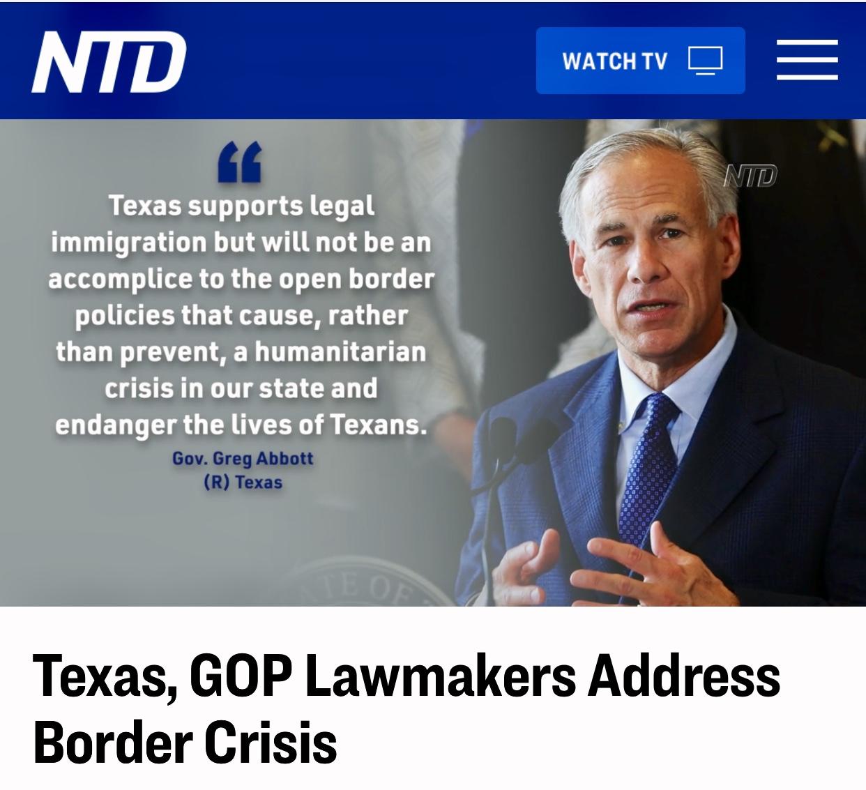 Texas, GOP Lawmakers Address Border Crisis Video