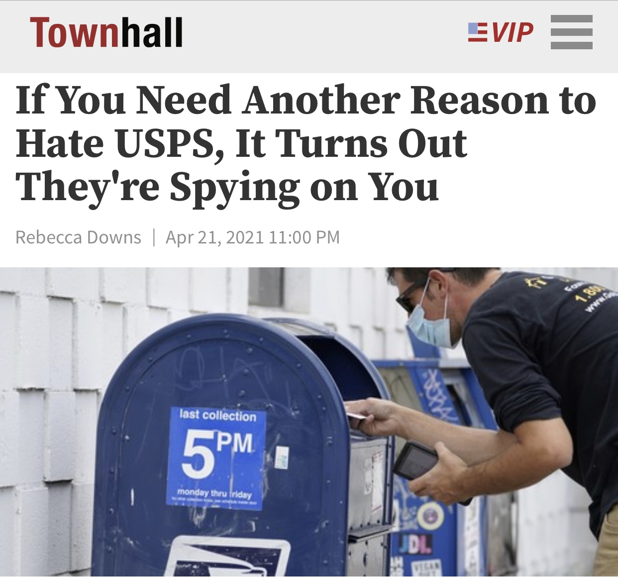If You Need Another Reason to Hate USPS, It Turns Out They're Spying on You