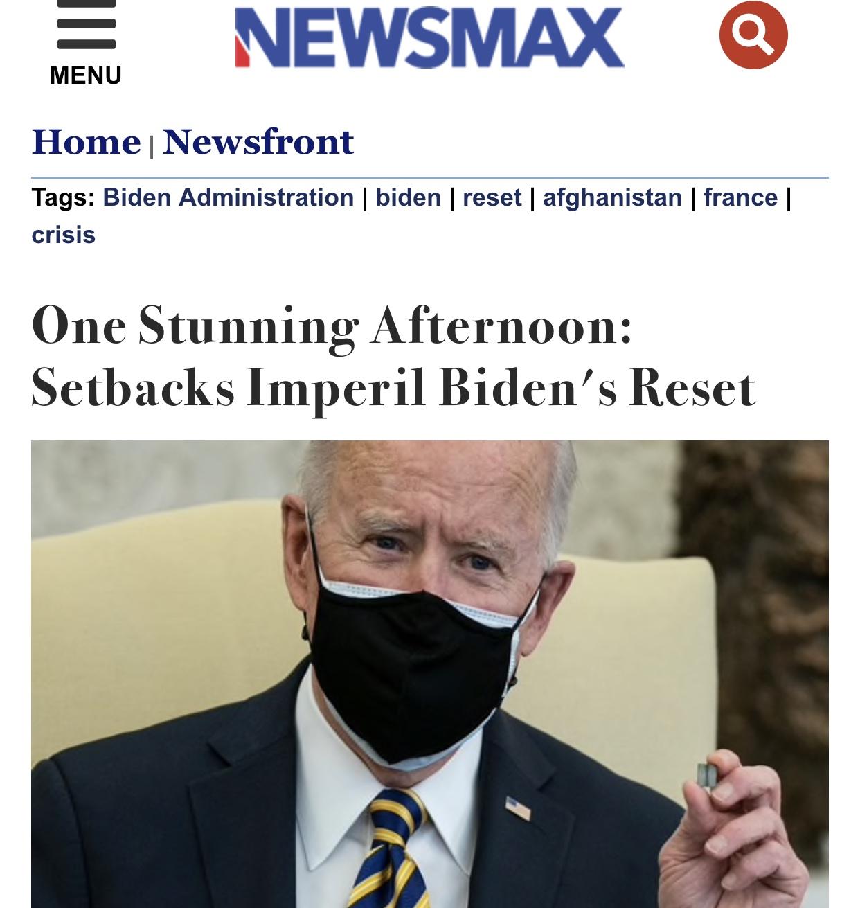 One Stunning Afternoon: Setbacks Imperil Biden's Reset