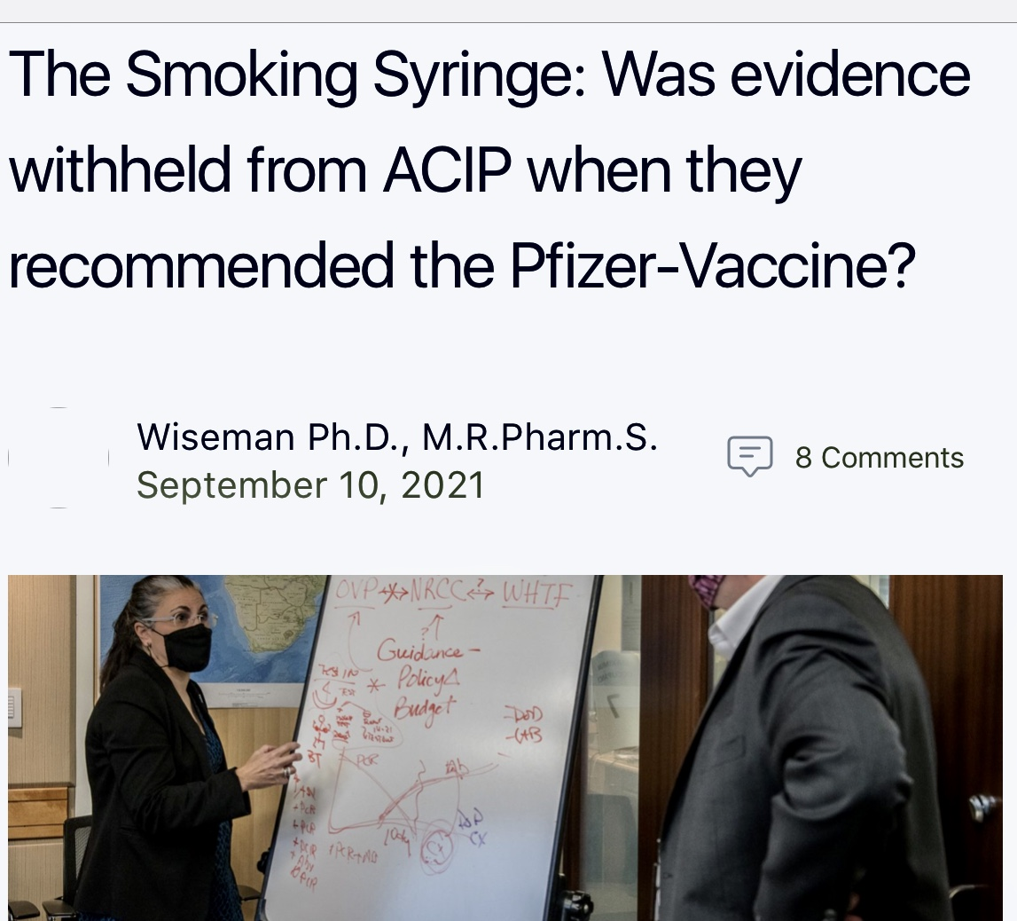 The Smoking Syringe: Was evidence withheld from ACIP when they recommended the Pfizer-Vaccine?