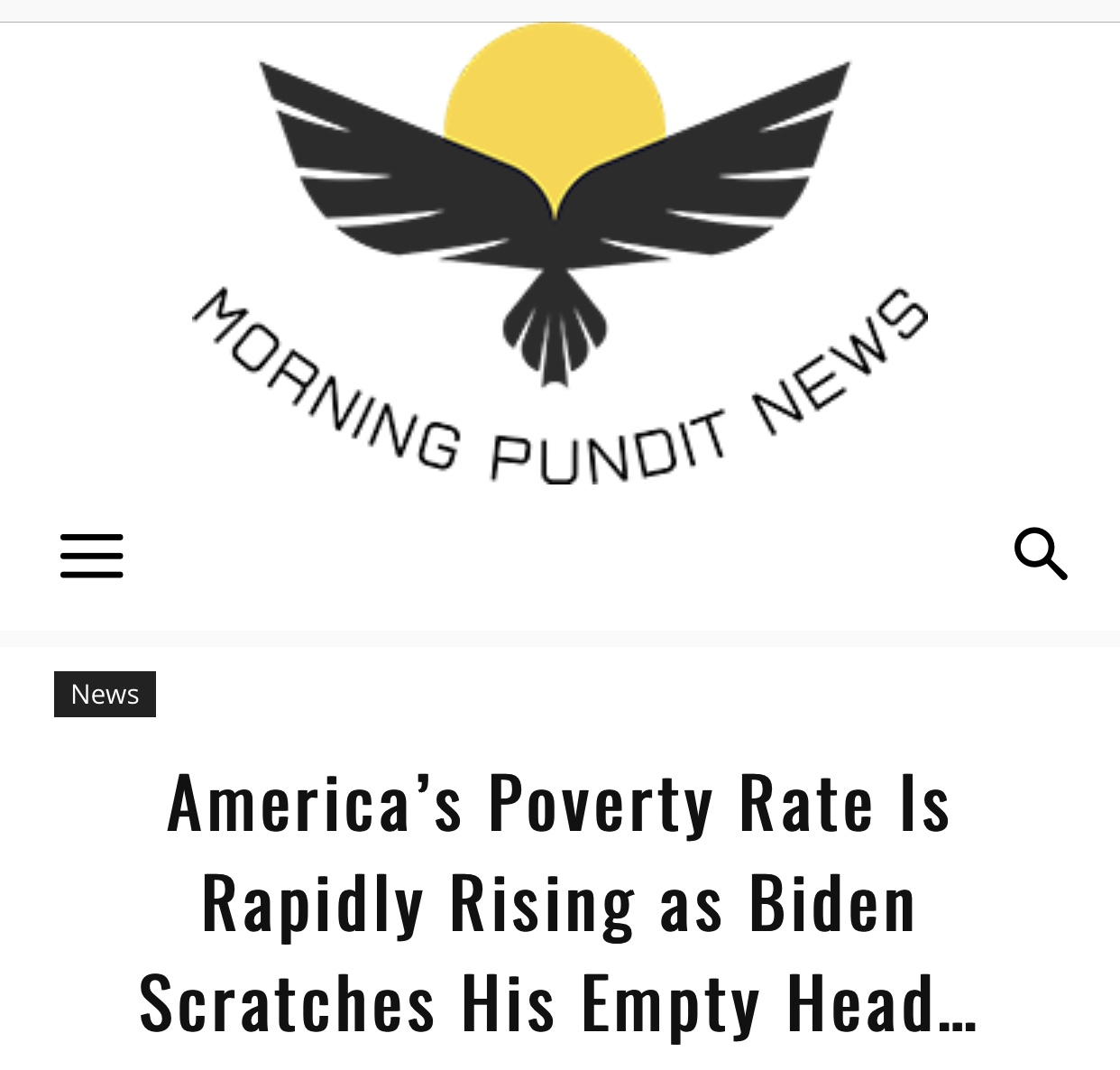 America's Poverty Rate Is Rapidly Rising as Biden Scratches His Empty Head…