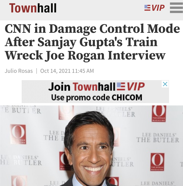 CNN in Damage Control Mode After Sanjay Gupta's Train Wreck Joe Rogan Interview