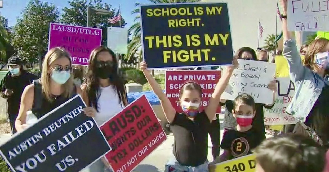 In California Massive Statewide School Vaccine Walkout Protest Planned Monday October 18th